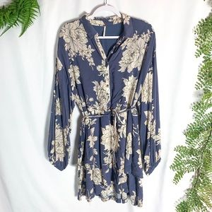Free People Floral Button Front Dress